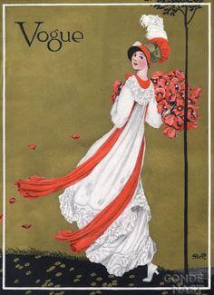 Vintage Vogue Covers, George Wolfe Plank #VintageVogueCoversKisyovaLazarinova