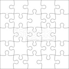 Jigsaw Puzzle Blank Royalty Free Stock Vector Art
