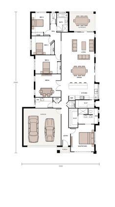 Home Design Floor Plans, Plan Design, My House Plans, House Floor Plans, Plans Architecture, Media Room Design, Floor Layout, House Blueprints, House Elevation