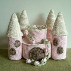 PDF Crochet Pattern - Mice Castle