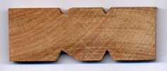 Cross section, wood rough out forms