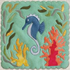 PATTERN  Dancing Seahorse Block of the Month by betsyloupatterns