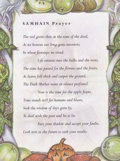 Sabbats and Esbats - Samhain Prayer
