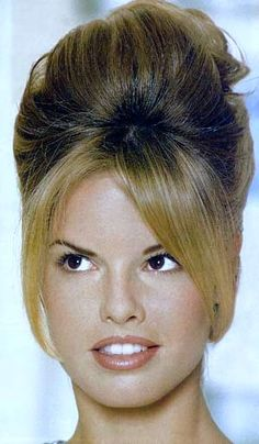 Trend Alert: The Beehive Hair-do 1960 Hairstyles, Beehive Hairstyles, Latest Short Hairstyles, Vintage Hairstyles, Bouffant Hairstyles, Bangs Hairstyle, Style Hairstyle, 1960s Hair, Sixties Hair