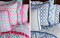 Gorgeous new Ikat and Chevron bedding for both crib and big-kid beds by Caden Lane