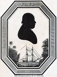 Paul Cuffee (1759 -1817) was an American Quaker of Aquinnah Wampanoag and African Ashanti descent. Cuffee built a lucrative shipping empire and established the first integrated school in Westport, Massachusetts. Cuffee often preached at services of the multi-racial Friends Meeting. In 1813, he donated most of his money to build a new meetinghouse. He helped establish a society to support a colony of freed slaves, resettled from the US to Nova Scotia to Sierra Leone. More of his story at…