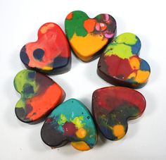 Make these beautiful homemade heart-shaped crayons. The great thing about these crayons is that you can even use broken ones!  http://www.greenkidcrafts.com/homemade-heart-crayons/