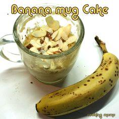 Mug cake à la banane (2 mn au micro-ondes)