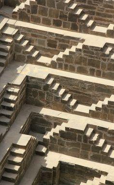 Stepwell, Chand Baori, Abhaneri, India. So reminiscent of Esher!