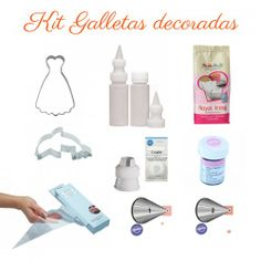 kit para hacer galletas decoradas con glasa #galletasdecoradas #glasa #kits #utensilios #pasteleria #reposteria #cookies