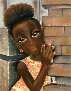 Isabella Doesn't Want to Leave African Art by SalkisReArt on Etsy