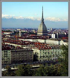 Turin, with Alps. Piedmonte, Italia