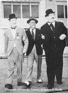 Laurel and Hardy with Harry Langdon