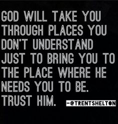 Amen! Trusting God can be hard at times, but it is worth it <3 No one knows what we need better than the one Who created us!