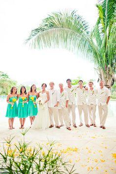 Wedding party beach wedding Manuel Antonio, Costa Rica.    villascostarica.com