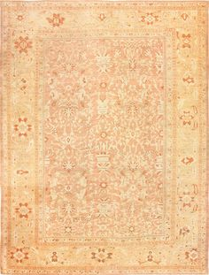 Antique Persian Ziegler Sultanabad Rug, Country Of Origin / Rug Type: Antique Persian Rug, Circa Date: Late 19th Century 11 ft x 15 ft (3.35 m x 4.57 m)