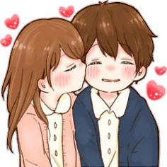 it's love 6 – LINE stickers Cute Chibi Couple, Love Cartoon Couple, Cute Cartoon Pictures, Cute Couple Art, Cute Cartoon Girl, Cute Love Cartoons, Cute Profile Pictures, Funny Anime Pics, Cute Bear Drawings