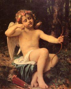 Leon Bazile Perrault Paintings-Cupid's Arrows, 1882