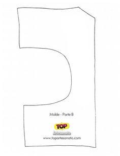 Como fazer elefante de tecido - Molde b