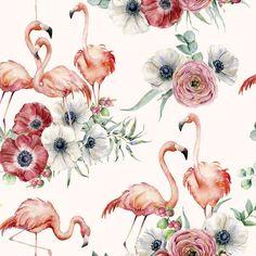 Flamingo and Flowers Baby Girl Blanket, Flamingo Birds Baby Shower Gift Personalized Blanket, Flamingo Nursery Decor, Birds Crib Blanket