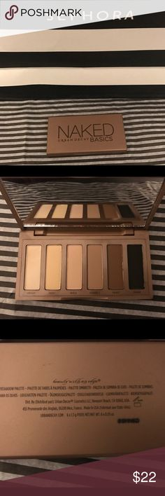 Authentic Urban Decay Naked Basics palette. New! Authentic, Urban Decay Naked Basics palette, brand new! Never used or swatched! Beautiful natural color palette! This is my favorite eye palette from The Naked line. Paid $32 at Sephora. Watch out for tons more makeup coming soon! Urban Decay Makeup Eyeshadow