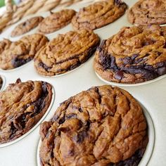 Flourless-Moist-Gooey-SIMPLE Makes 12 regular muffins Ingredients: 2 large beaten eggs (room temp) 2 cups PB or Almond Butter (creamy smooth-room temp works best) 1/2 cup pure maple syrup 1.5 cups pure pumpkin puree 2 tsp baking soda 2 tsp vanilla extract 5 Tbsp unsweetend cacao powder 1/4 cup...