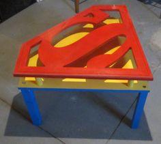 Handmade Superman Coffee Table DC Comics Man of by SuperHeroWithin, $380.00