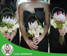 Lets take a look at some protea wedding bouquets that are absolutely gorgeous. These bouquets have 3 characteristics in common: Protea Bouquet, Peach Bouquet, Protea Flower, Flowers To Go, Bridal Flowers, Protea Wedding, Floral Wedding, Orange Wedding, Bouquet Wedding