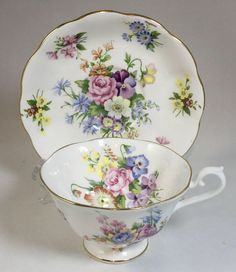 A personal favorite from my Etsy shop https://www.etsy.com/ca/listing/584835671/royal-albert-floral-bouquet-teacup-and