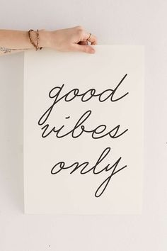 The Find: 10 Motivational Posters That Aren't Totally Cheesy  Letters On Love Good Vibes Only Art Print from Urban Outfitters, $26.