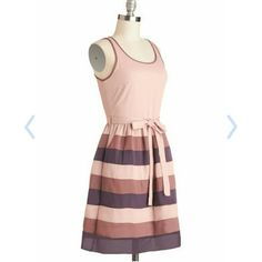 Modcloth Rose Garden Gathering Dress Brand is Ya sold by Modcloth. NWT. Size small. Unlined, slightly sheer but could get by with a nude colored bra. Super cute light pink, purple, and maybe colors. Side zipper. Has pockets. ModCloth Dresses