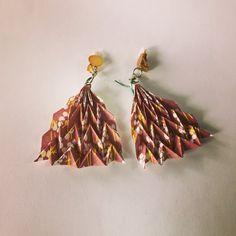 Miura-ori fan tessellation charm jewelry for by PrwOrigami on Etsy