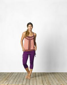 Brighten up your wardrobe with prAna's Meadow Top $65, and Cassidy Capris $75. #prana #yoga #fitness