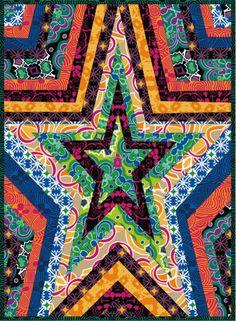 Free Pattern - Cosmic Burst Mini Quilt by Mark Cesarik