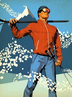 Tavis Coburn 1940s Russian Avant-Garde Inspired Illustrations