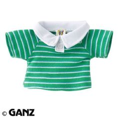 Webkinz Green Striped Polo. #Webkinz #Green #Striped #Polo