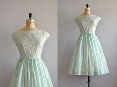 vintage 1950s Mint Ice Cream dot dress