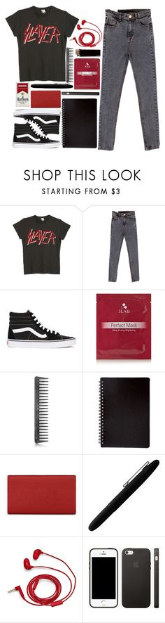 """""""The mind flayer"""" by queen-elizabeth2000 ❤ liked on Polyvore featuring MadeWorn, Vans, 3LAB, GHD, Yves Saint Laurent, Fisher Space Pen and FOSSIL"""