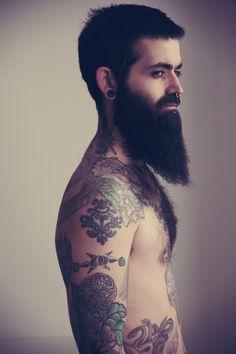 tattoo  colors  male  men  he  beard  amazing  cool  paint  body  jtg  pin  repin