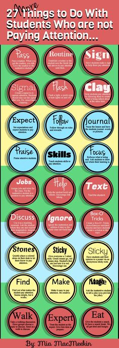 27 Things to Do With Students Who are not Paying Attention... infographic