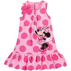 Woven Minnie Mouse Dress for Girls Disney Dresses For Girls, Disney Baby Clothes, Kids Outfits Girls, Little Girl Dresses, Girl Outfits, Girls Dresses, Vestidos Minnie, Toddler Fashion, Kids Fashion