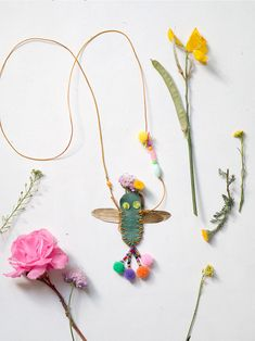DIY Handstitched Dragonfly Necklace