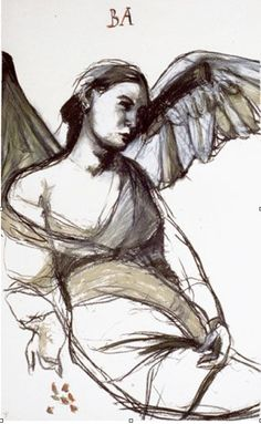 Kuutti Lavonen | Odota Barachiel 1997 Modern Art, Contemporary Art, Art Drawings, Figure Drawings, I Believe In Angels, Nature Spirits, Art Corner, Inspirational Artwork, Angel Art