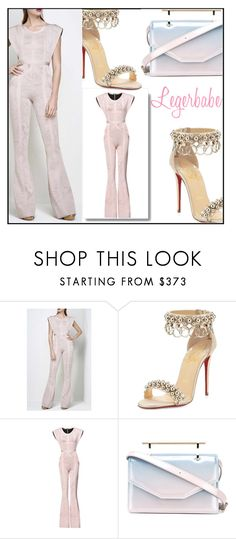 """""""L-B Kasie Rose Multi-Texture Plaited Jacquard Jumpsuit"""" by aida-ida ❤ liked on Polyvore featuring beauty, Christian Louboutin and M2Malletier"""