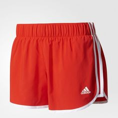 adidas M10 3-Stripes Shorts - Red | adidas US ($28) ❤ liked on Polyvore featuring shorts, adidas, striped shorts, red striped shorts, stripe shorts and adidas shorts