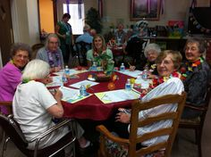 Hawaiian themed lunch! All smiles with our beautiful Hawaiian leis :)    Aspen Senior Center (Utah) http://aspenseniorcenter.com/