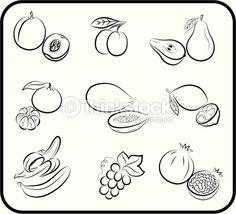 Fruits Vector Hand Drawn Vector Art | Thinkstock