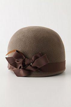 Cloche hat by Yestadt Millinery