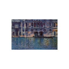 Venice Palazzo Da Mula Poster (9.71 NZD) ❤ liked on Polyvore featuring home, home decor, wall art, venetian painting, venice paintings and claude monet paintings