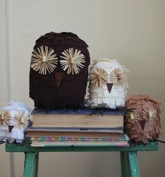 diy owl decorations by a beautiful mess